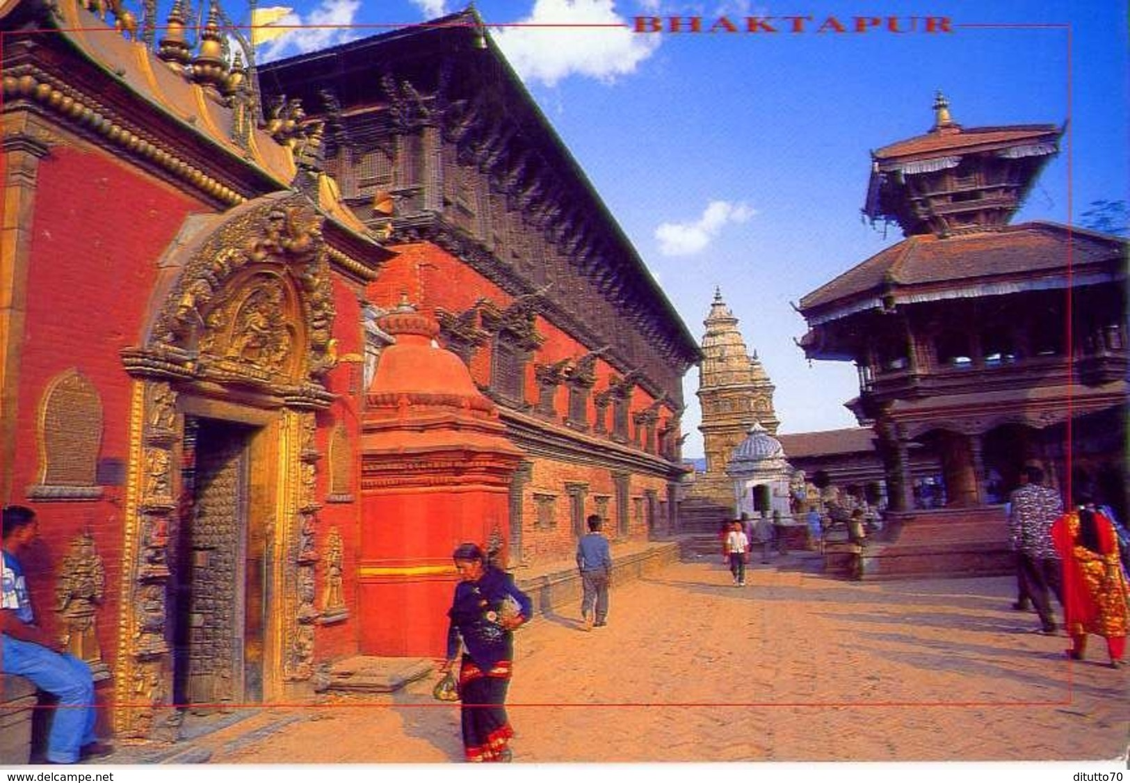 Nepal - Bhaktapur - Formato Grande Viaggiata - E - Nepal