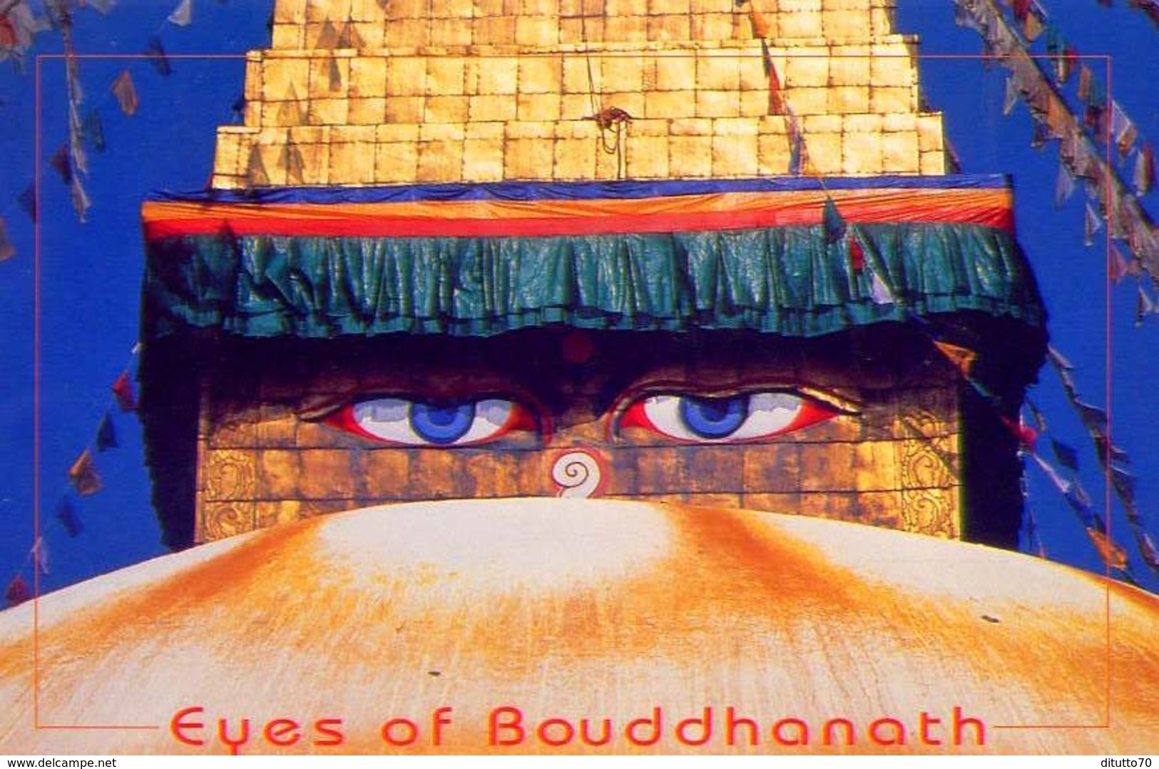 Nepal - Eyes Of Bouddhanath - Formato Grande Viaggiata - E - Nepal