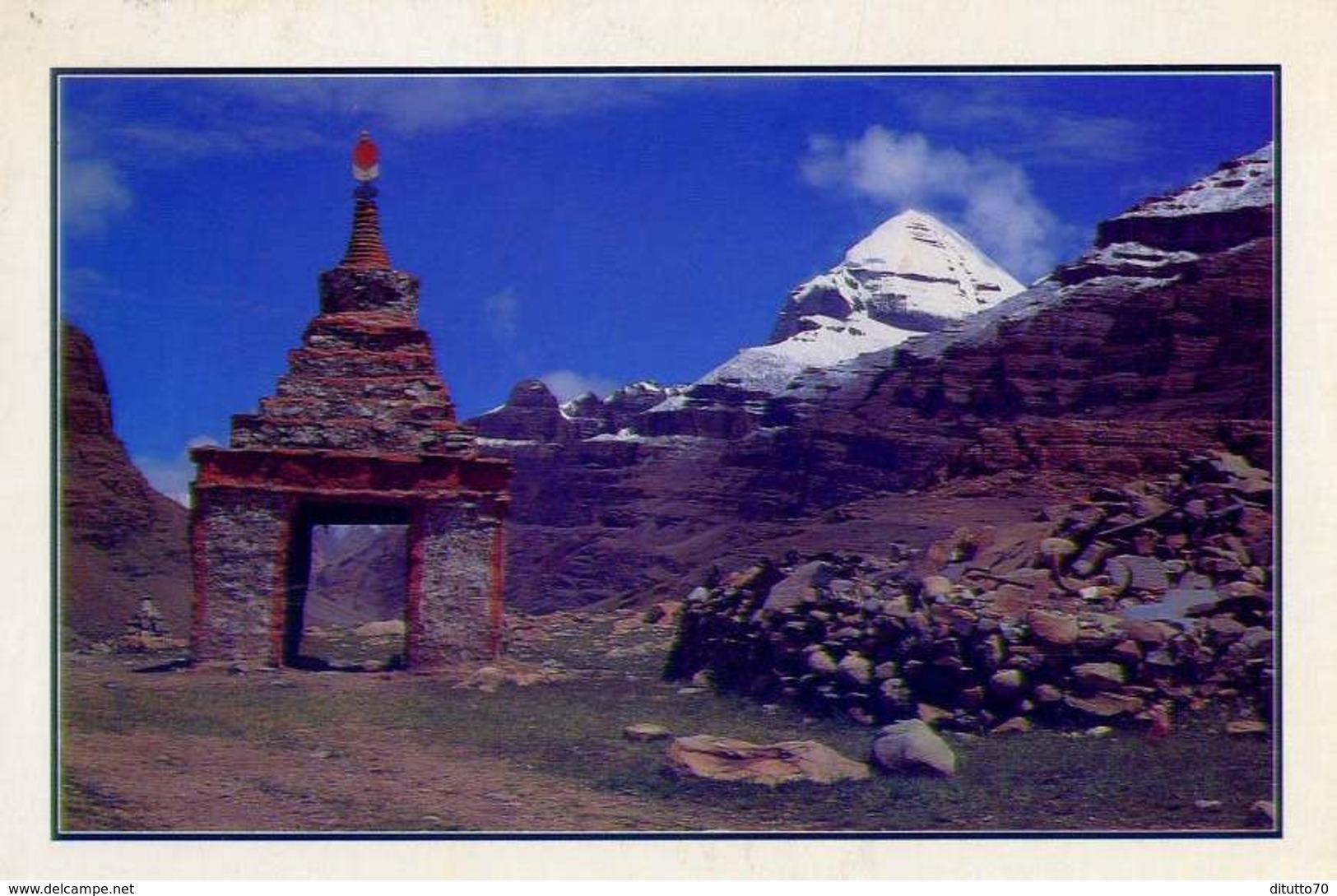 Nepal - Mt.kailash A Holy Mountain In West Tobet Stupa - Formato Grande Viaggiata - E - Nepal