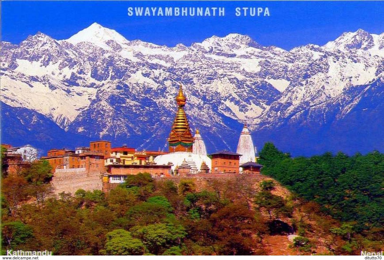 Nepal - Swayambhunath Stupa - Kathmandun - Formato Grande Viaggiata - E - Nepal
