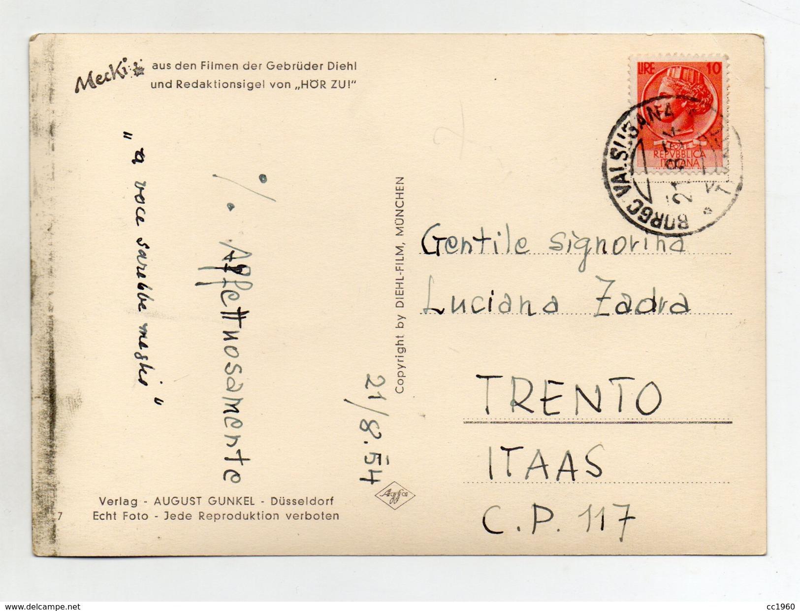 MECKI - Mundlich Ging Es Besser - Viaggiata Nel 1954 - (FDC3158) - Cartolina Nr. 7 - Mecki