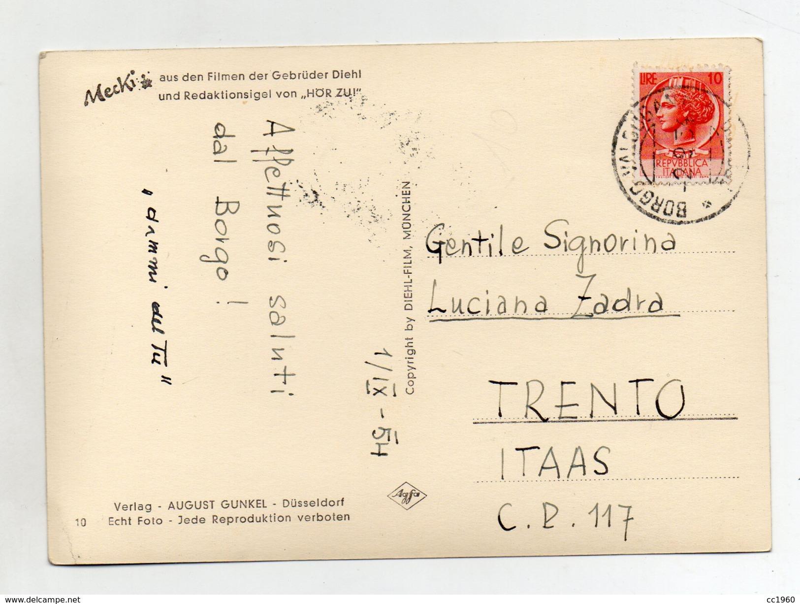 MECKI - Sag Du Zu Mir - Viaggiata Nel 1954 - (FDC3161) - Cartolina Nr. 10 - Mecki