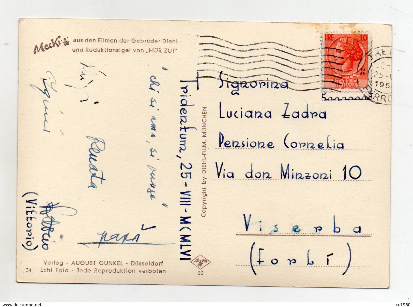 MECKI - Was Sich Liebt, Das Neckt Sich ! - Viaggiata Nel 1956 - (FDC3162) - Cartolina Nr. 34 - Mecki
