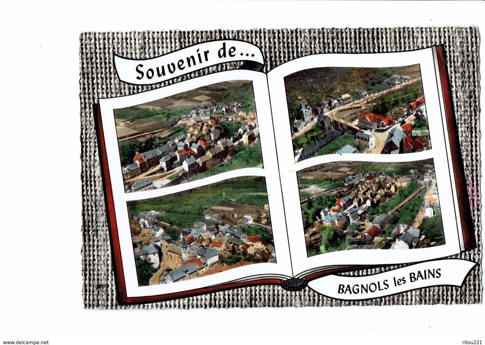 Cpm - 48 - BAGNOLS LES BAINS - Vue Générale - Pont église - 1965 - Multivues Livre Ouvert - France