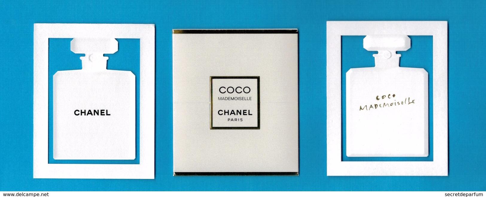 Cartes Parfumées  Carte CHANEL COCO MADEMOISELLE De  Chanel Avec Pochette étui - Modernes (à Partir De 1961)