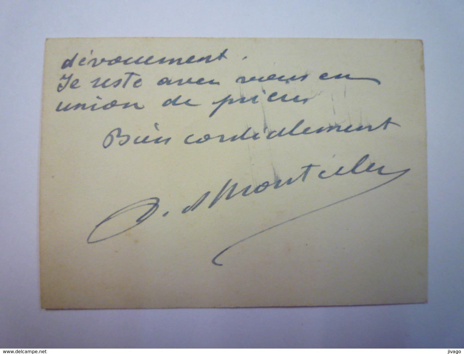 CARTE De VISITE  :  COMTE DE  MONTECLER  (La Forest , Gesté)   - Cartes De Visite