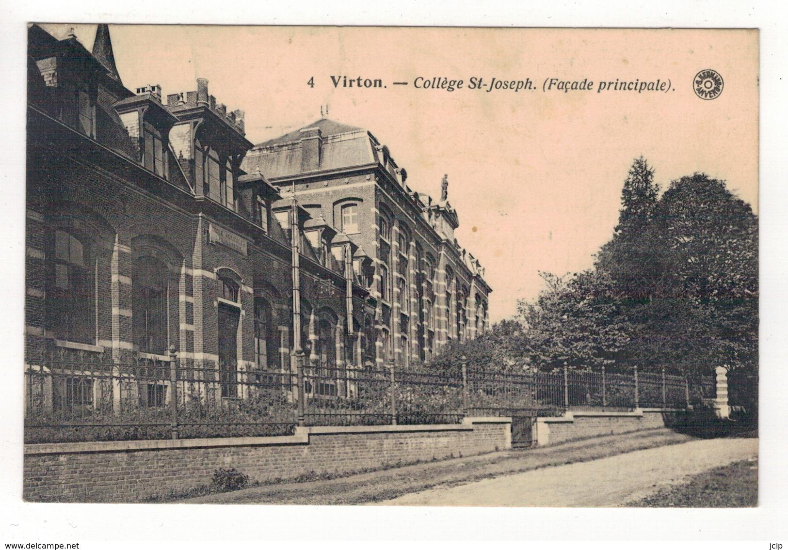 VIRTON - Collège St-Joseph. (Façade Principale). - Virton