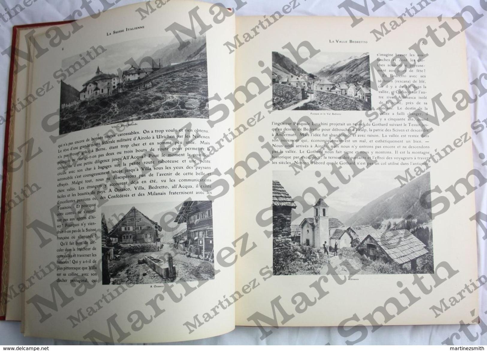 French Book: La Suisse Italienne By Dr. Platzhoff-Lejeune, Photos: S.A. Schnegg - Géographie