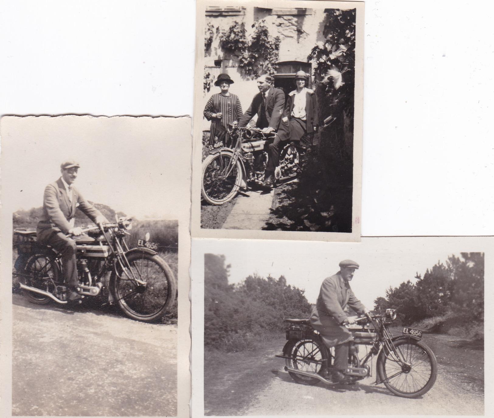 3  PHOTOS   MOTO  TRIUMPH  550  Type  H  -  ANNEES    . - Other