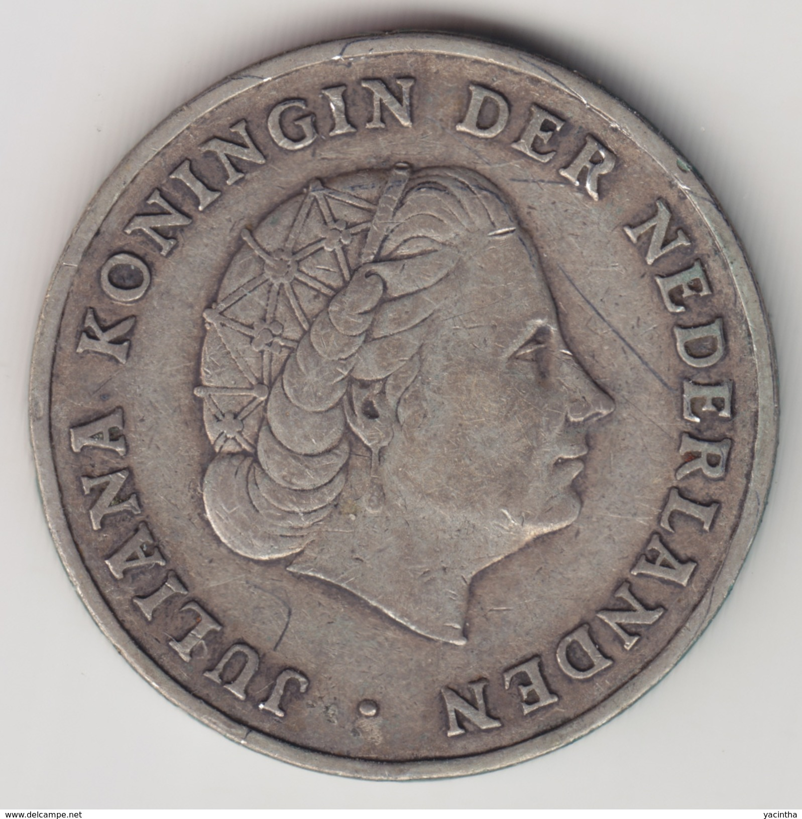 @Y@    Nederlandse Antillen   1 Gulden  1952 ( 4566 )  Zilver - Nederlandse Antillen