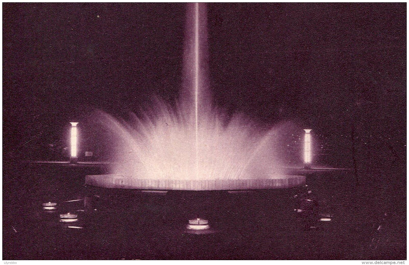 BELGIUM - Official Card De L'Exposition De Bruxelles 1935 - Jeux D'eau Et Fonyaines Lumineuses (3) - Exhibitions