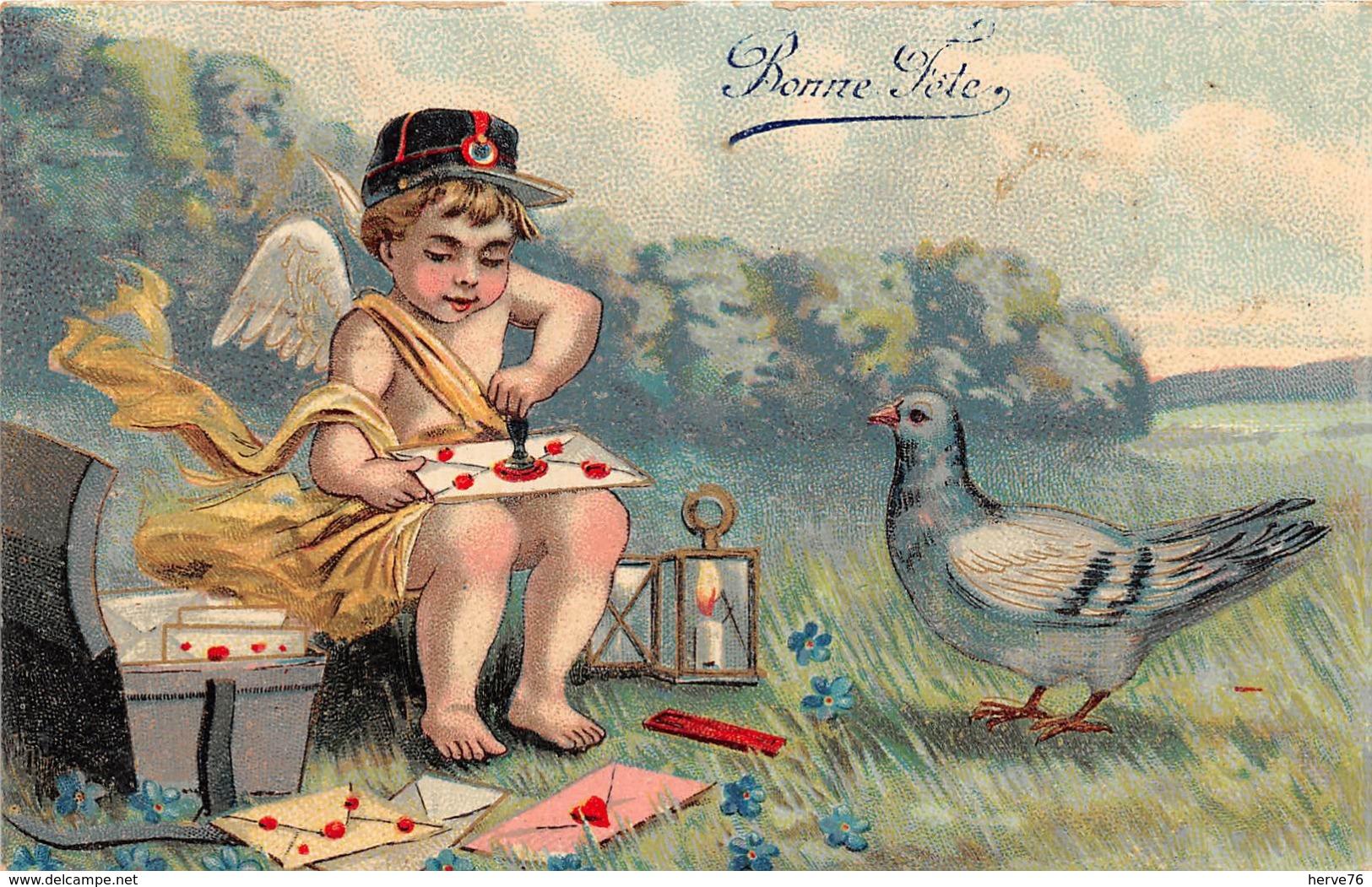Cpa Fantaisie - Ange - Facteur  - Pigeon - Engel