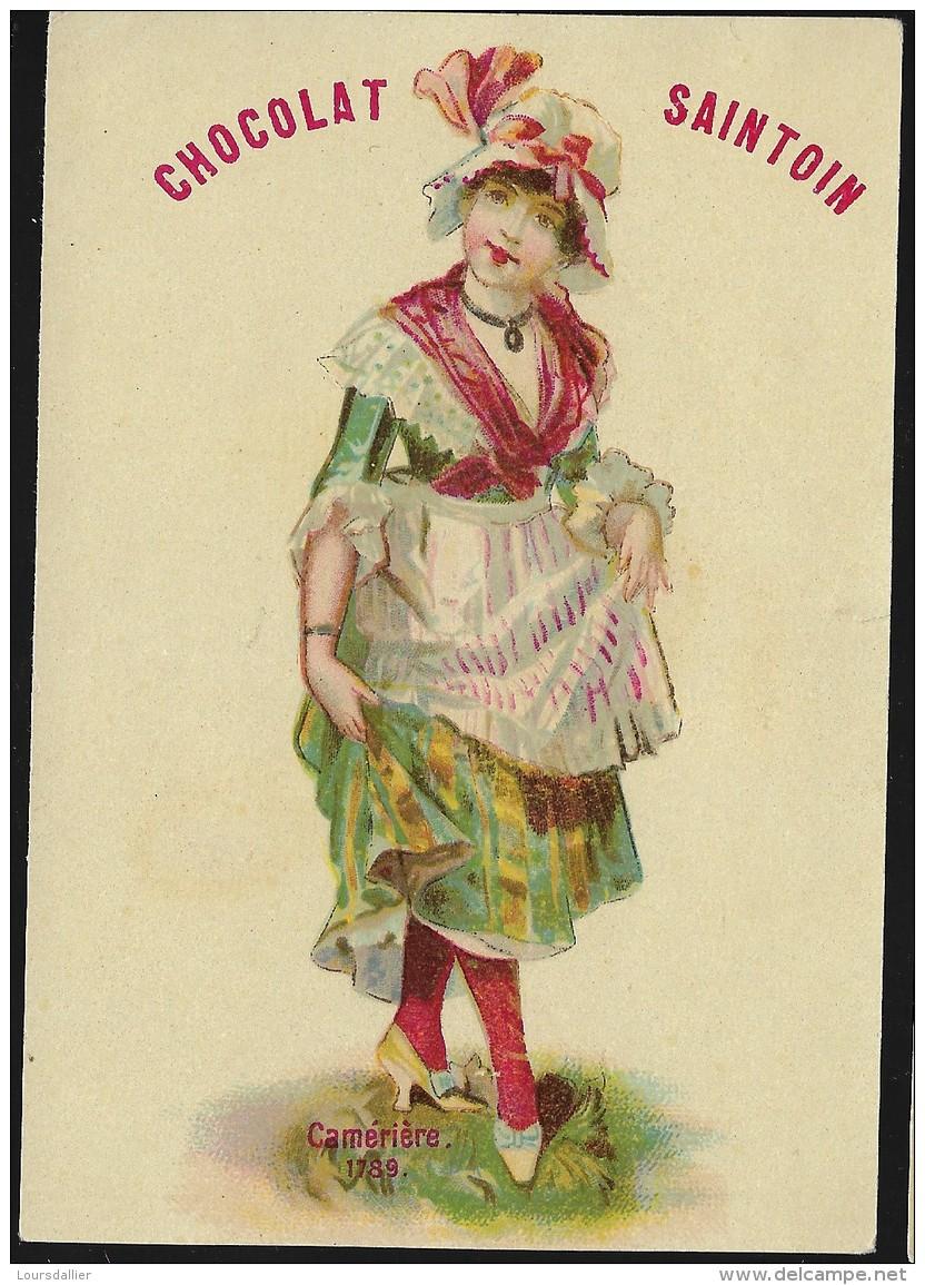 CHROMO Chocolat SAINTOIN  Camériste 1789 - Chocolate