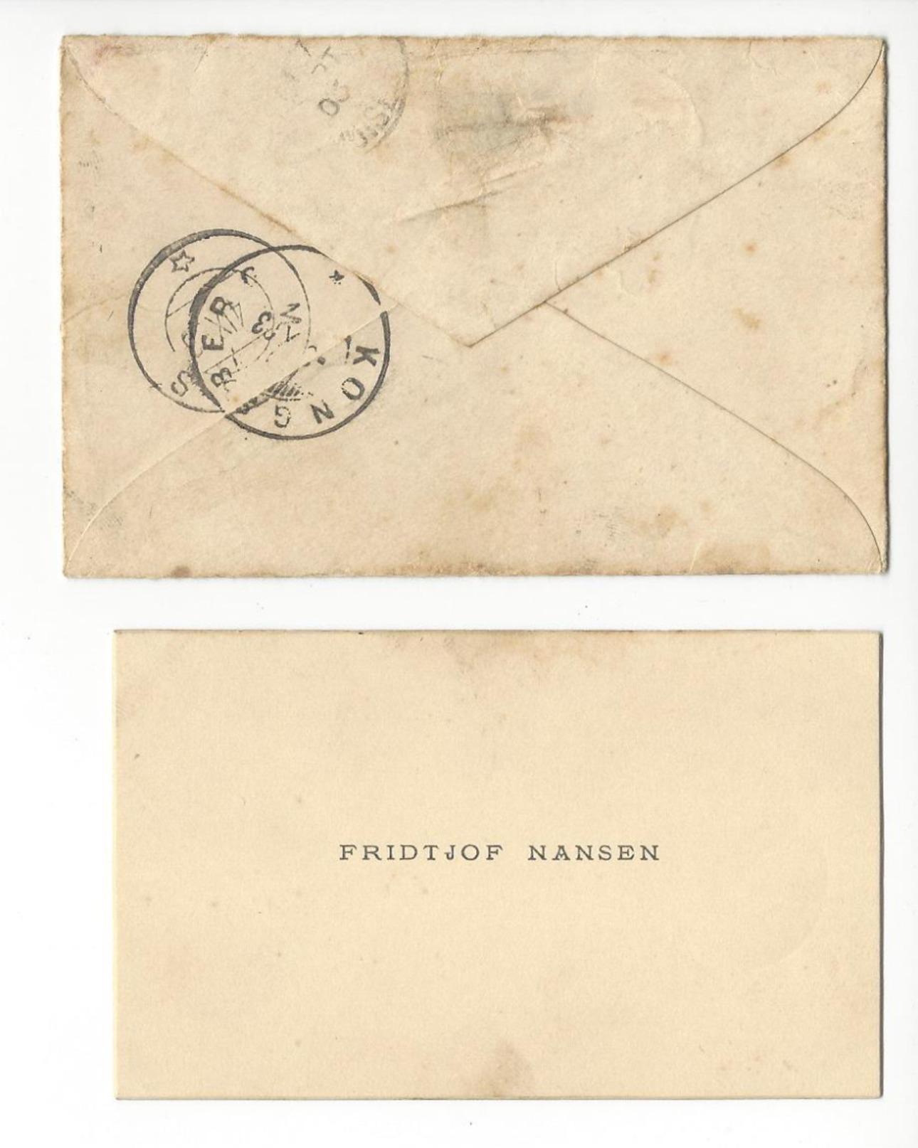 NANSEN (1861-1930) AUTOGRAPHE ORIGINAL AUTOGRAPH 1903 EXPLORATEUR POLAIRE POLAR EXPLORER ARCHIVE BARDOT FREE SHIP. R - Autographes