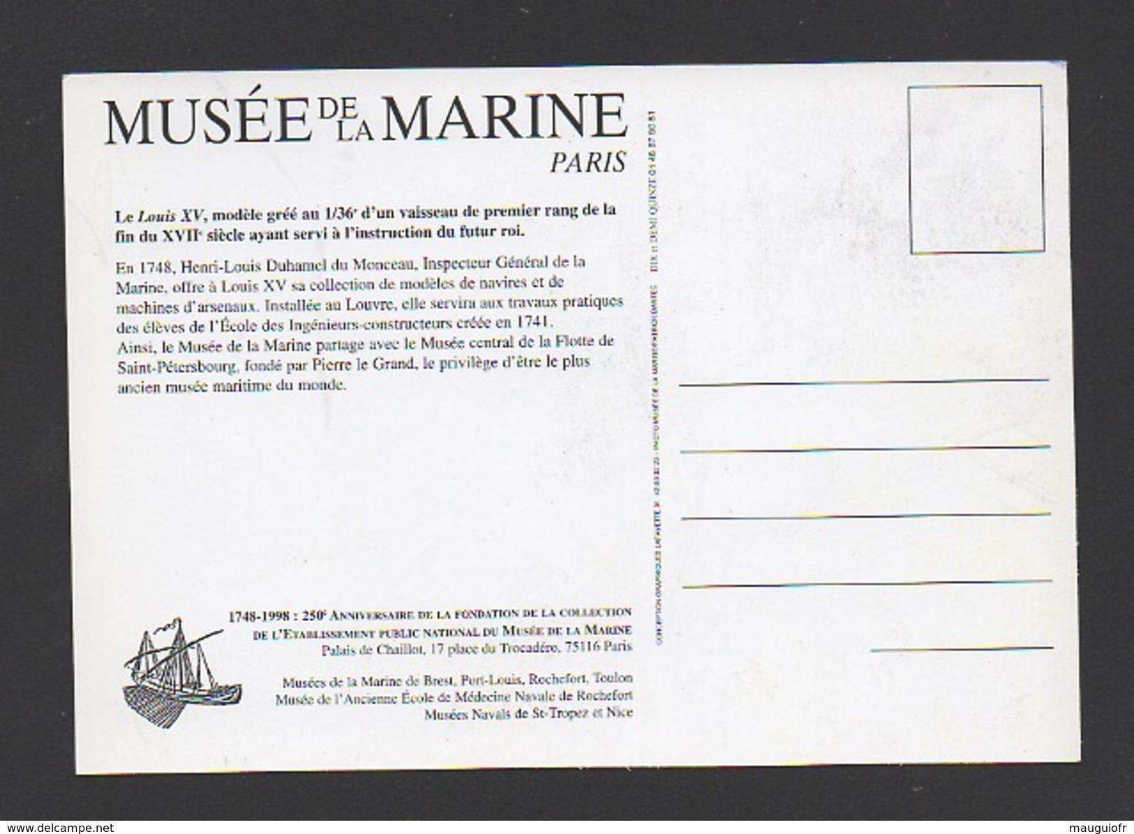 """DF / TRANSPORTS / BATEAUX / VOILIERS / LE """"LOUIS XV """" MODÈLE GRÉÉ AU 1/36e AYANT SERVI À L'INSTRUCTION DU FUTUR ROI - Sailing Vessels"""