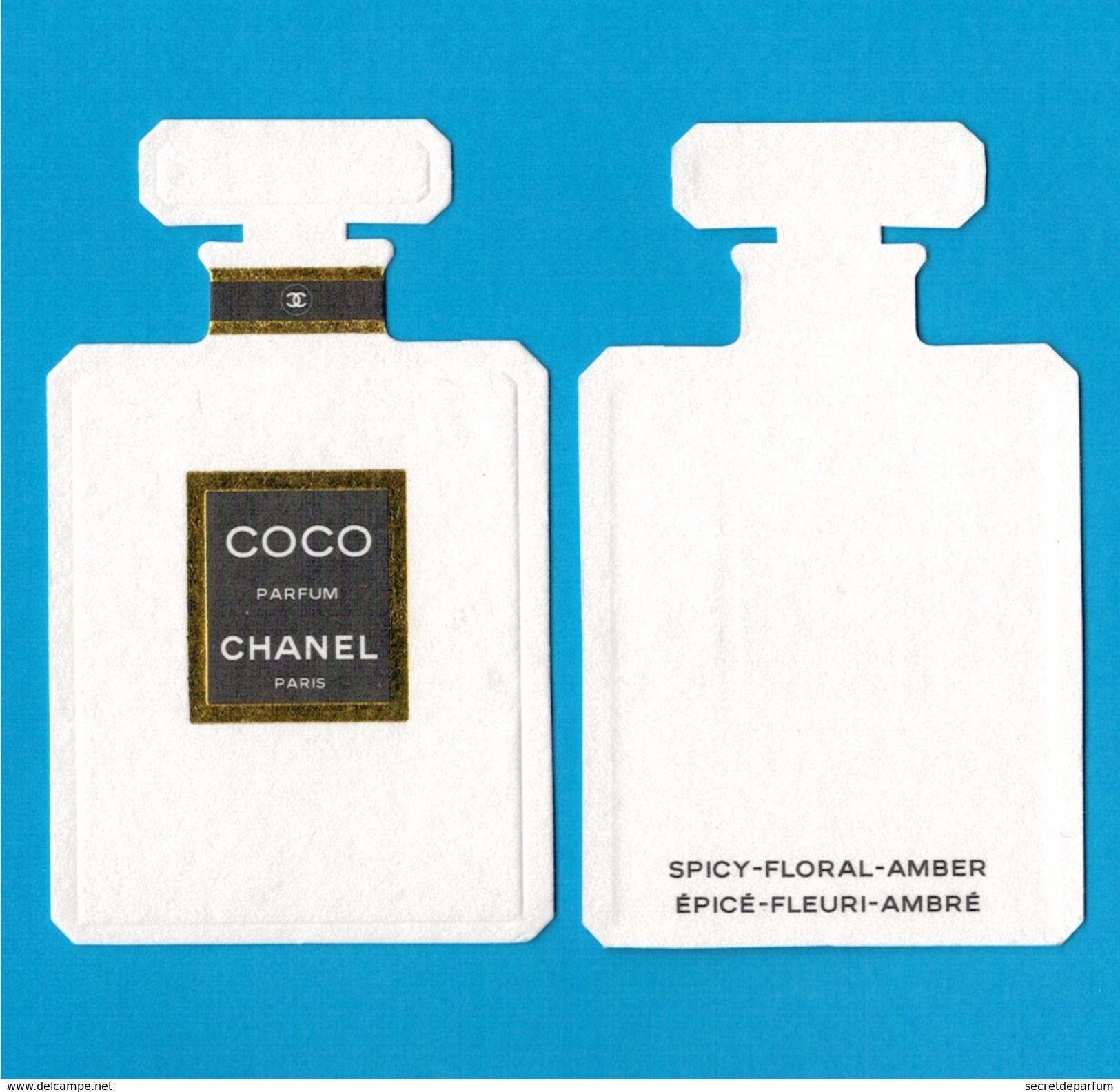 Cartes Parfumées  Carte  CHANEL COCO  De CHANEL RECTO VERSO - Modernes (à Partir De 1961)