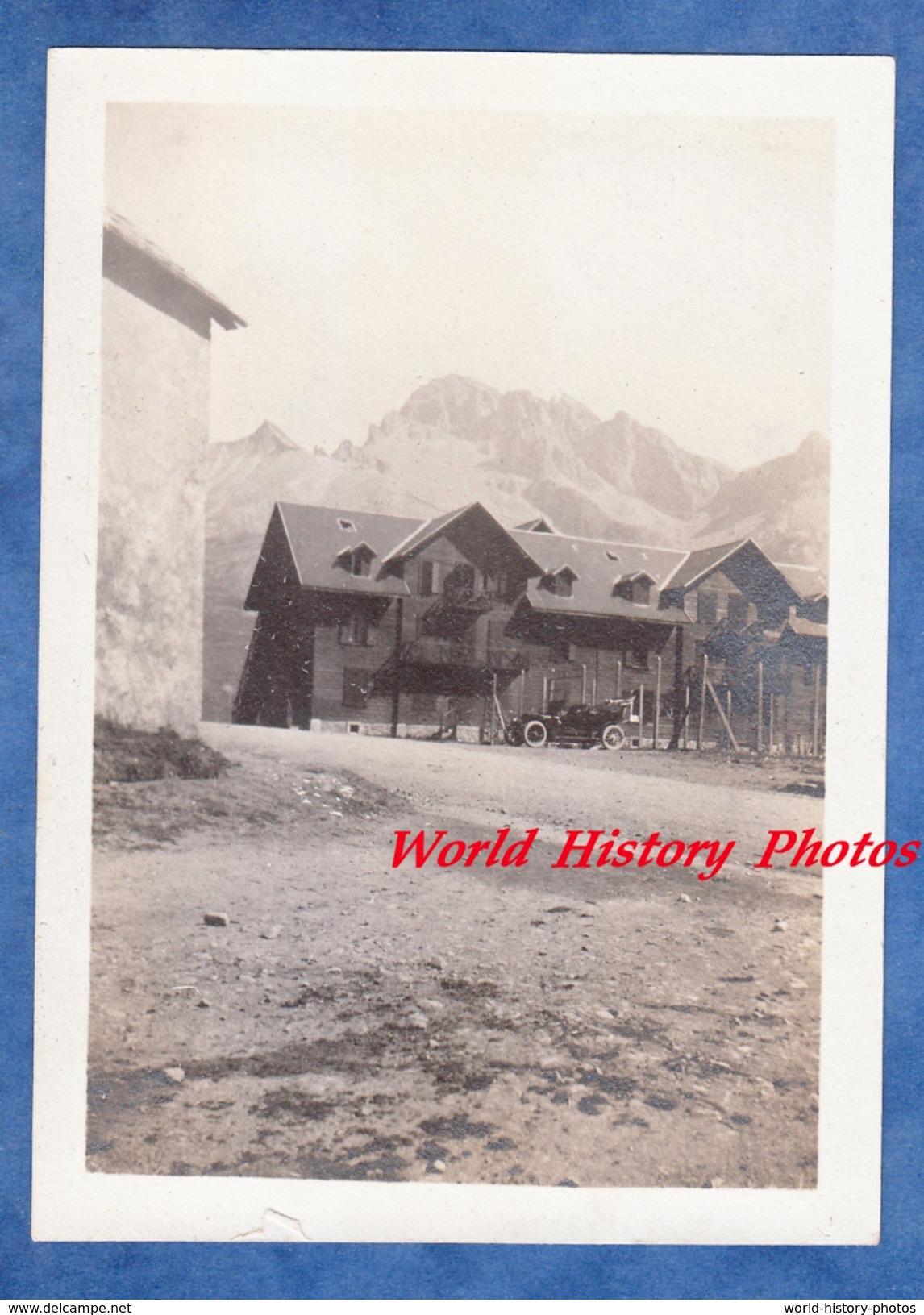 Photo Ancienne - Col Du LAUTARET - Arrêt D'une Automobile - La Meije Hautes Alpes - Cars