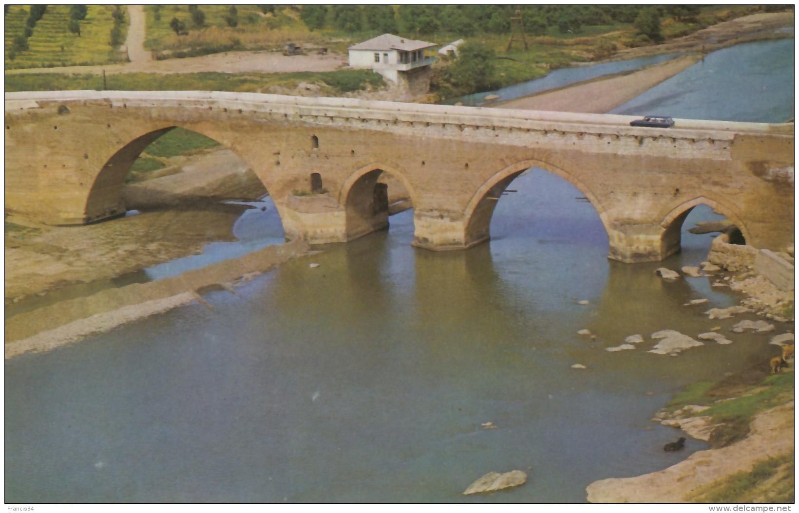 CPA - Kazakh District - Red Bridge On The Khram Chai River - Azerbaïjan