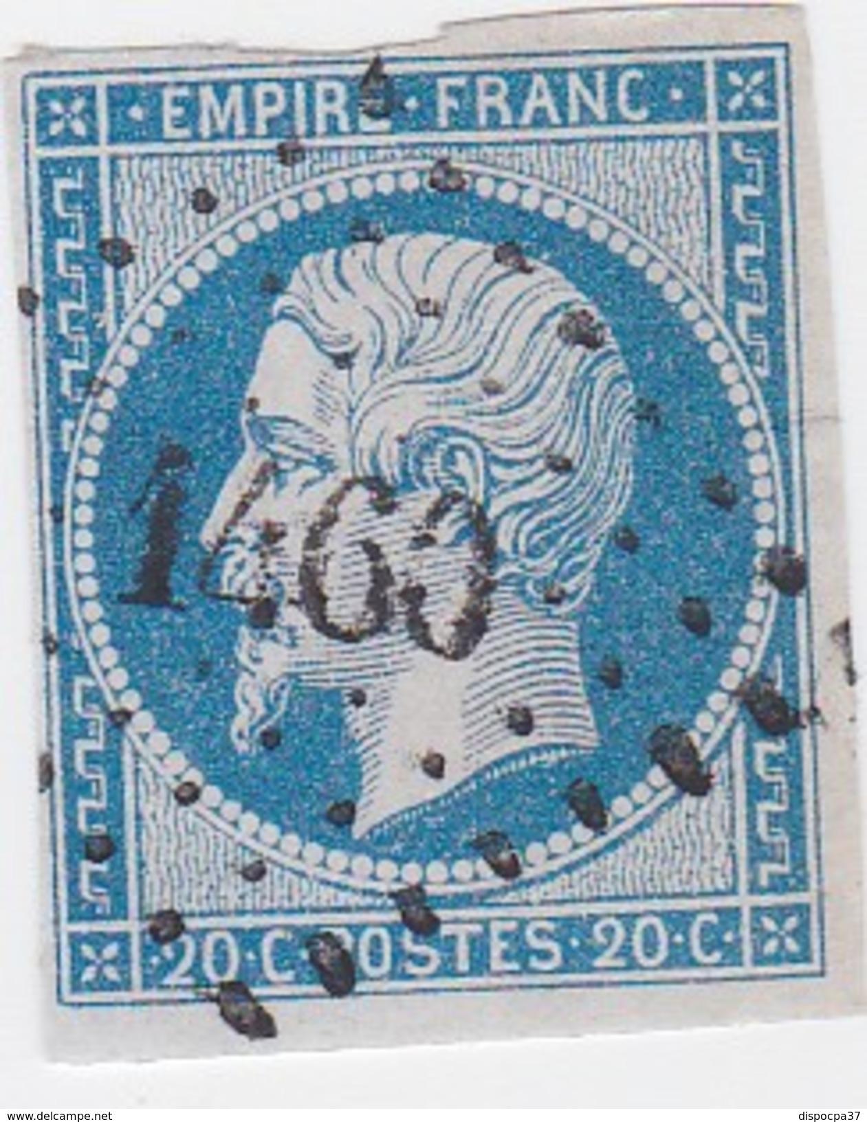N° 14 A   -  PC  1460  GUEBWILLER  /  HAUT-RHIN    - LOT 12118  INDICE 4 - 1853-1860 Napoleon III