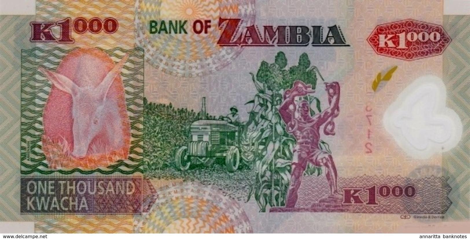 ZAMBIA 1000 KWACHA 2011 P-44h UNC [ZM146h] - Zambia