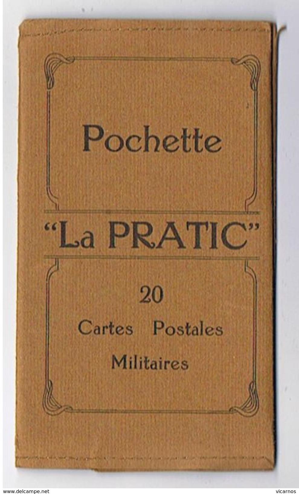 """POCHETTE """"La Pratic"""" 16 Cartes Postales Militaires Vierges - Other"""