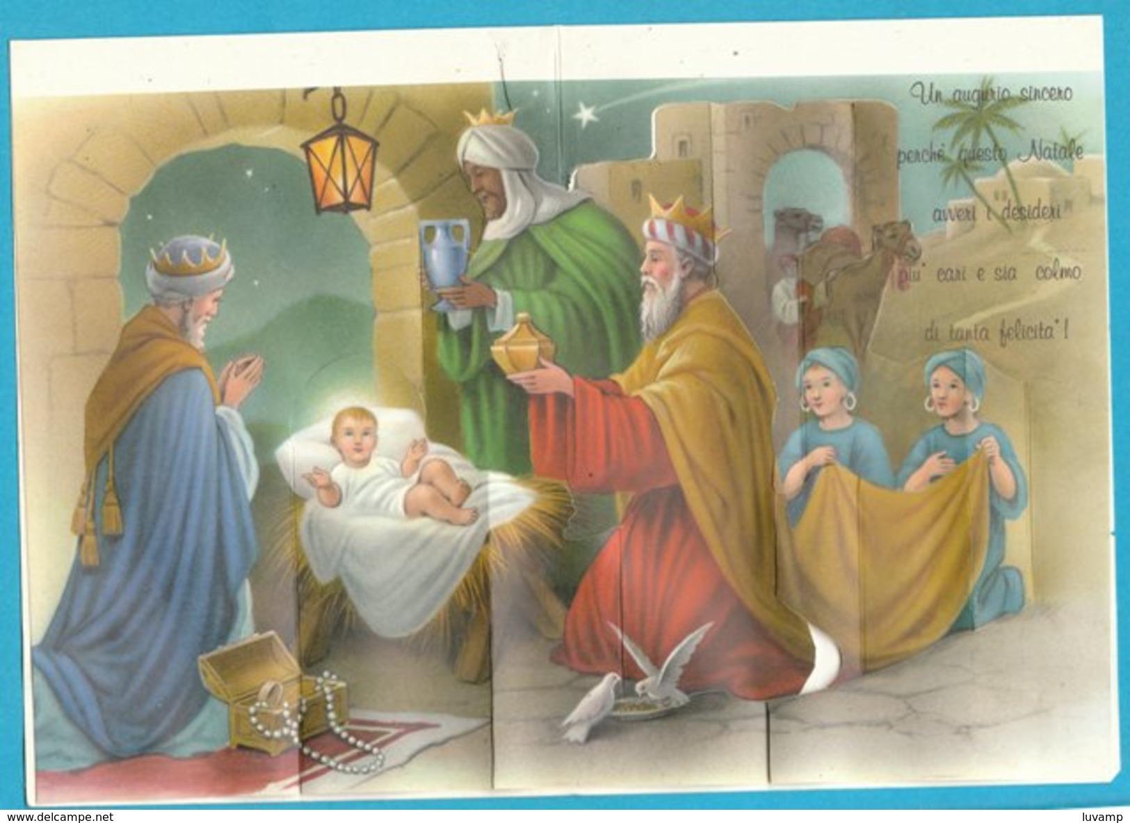 LETTERINA  Di NATALE  CON PRESEPE Apribile - SCRITTA -Anni 60 (231009) - Kerstmotief