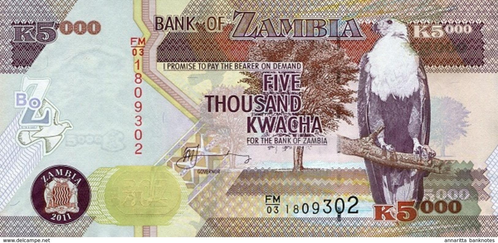 ZAMBIE 5000 KWACHA 2011 P-45g NEUF [ZM147g] - Zambia
