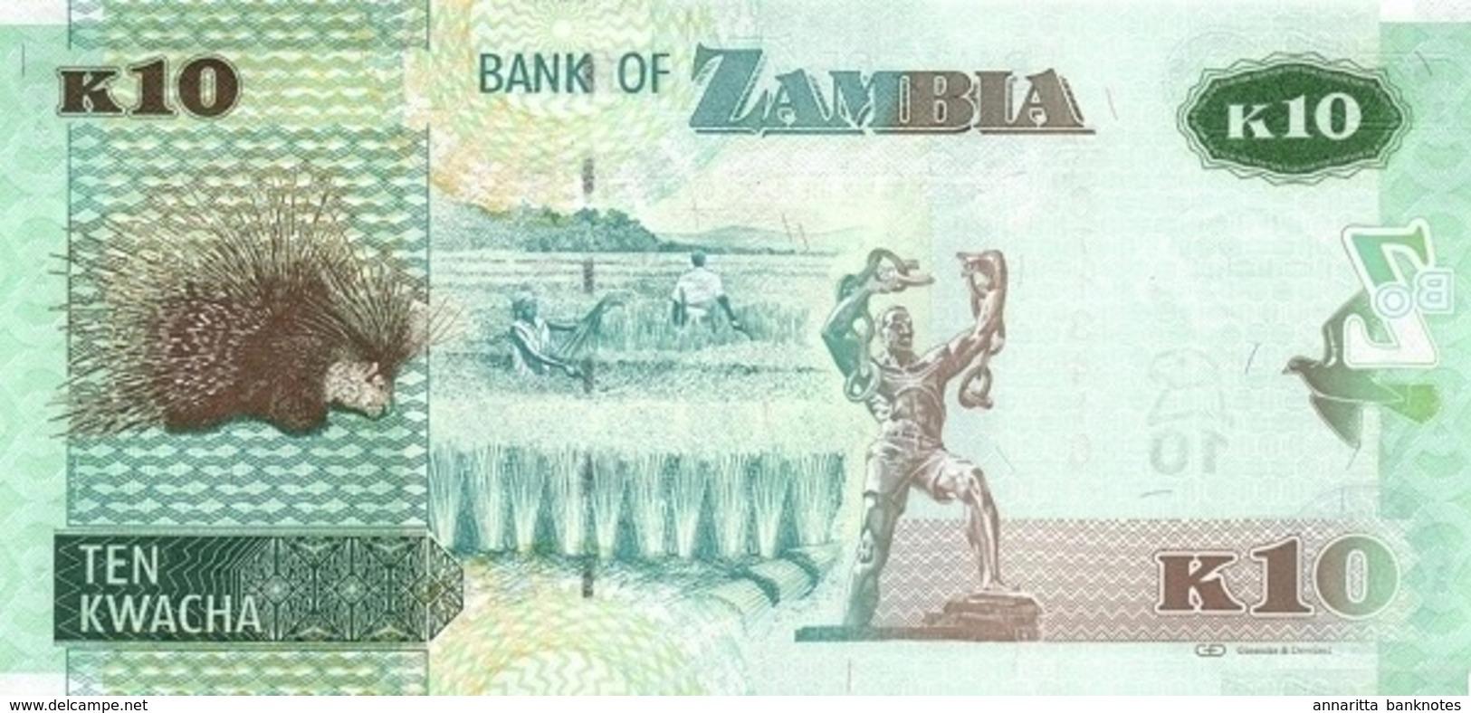 ZAMBIE 10 KWACHA 2012 (2013) P-51a NEUF [ZM154a] - Zambia