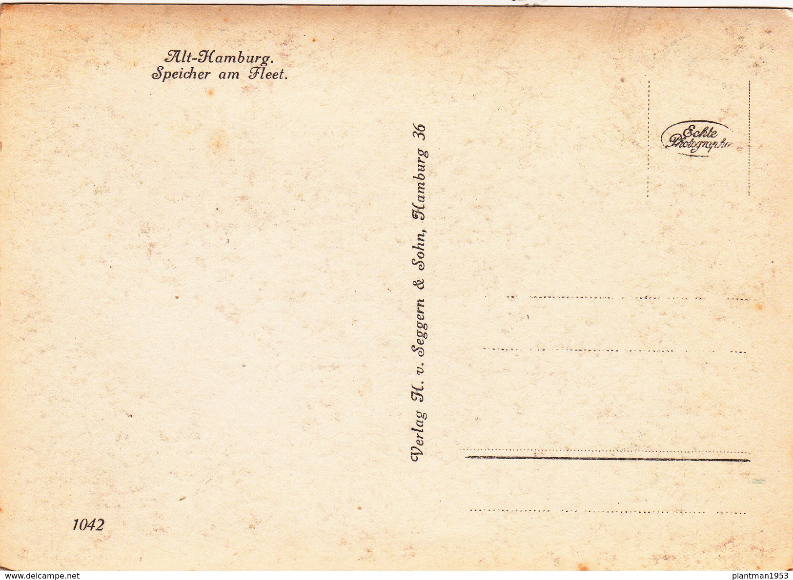 Reproduction?,Modern Post Card Of Alt-Hamburg, Hamburg, Germany,D16. - Germany