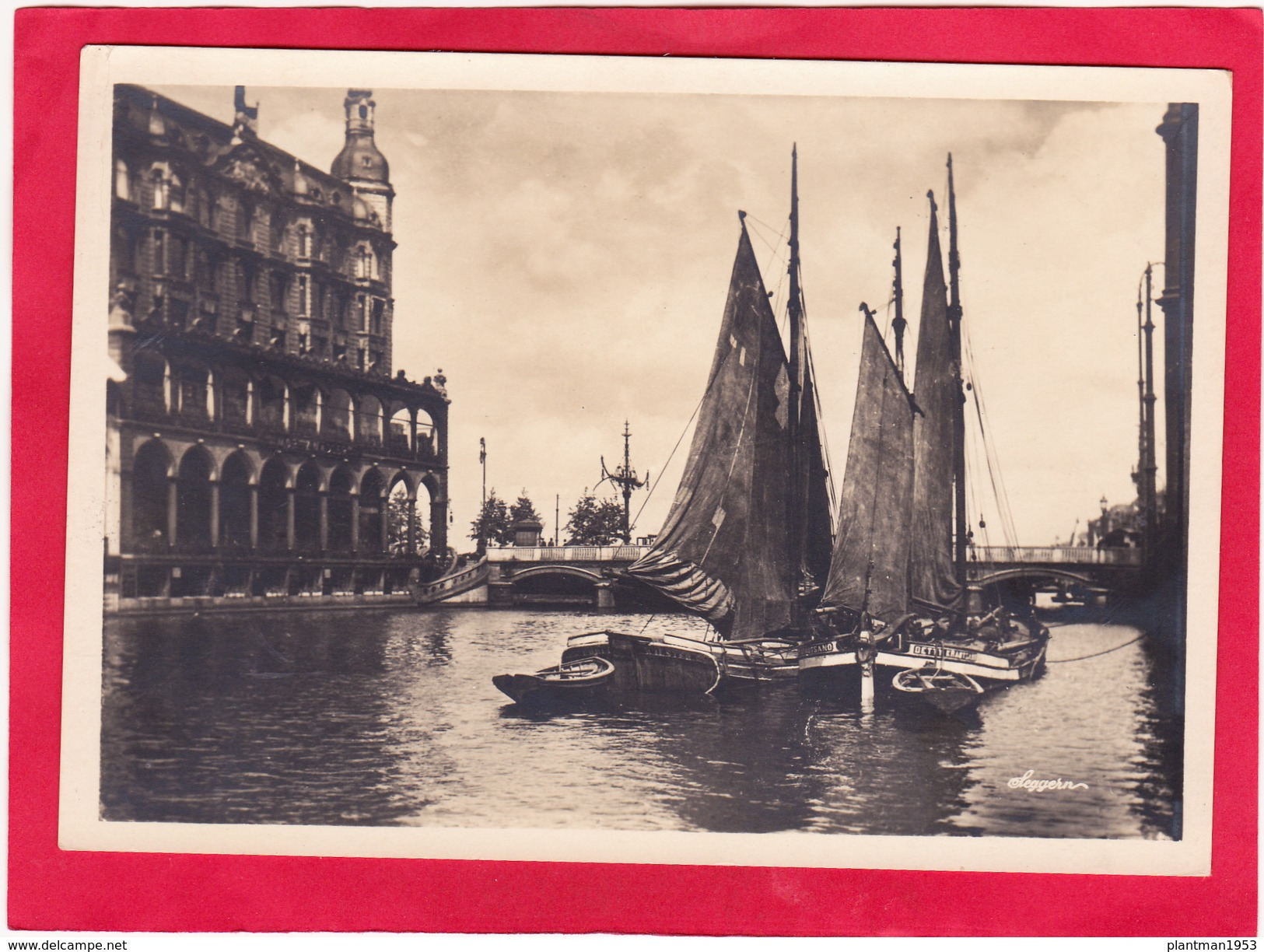 Reproduction?,Modern Post Card Of Kleine Alster,Hamburg,Germany,D16. - Germany