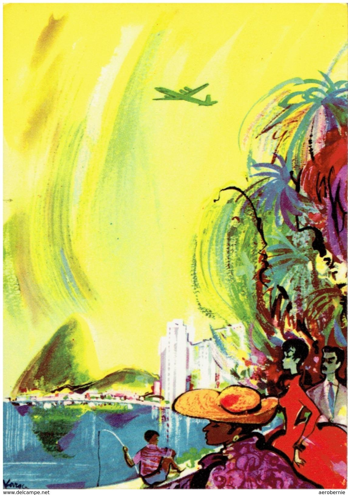 Alte Werbekarte SAS - The Global Airline / Rio De Janeiro (Airline Issue) - Flugwesen