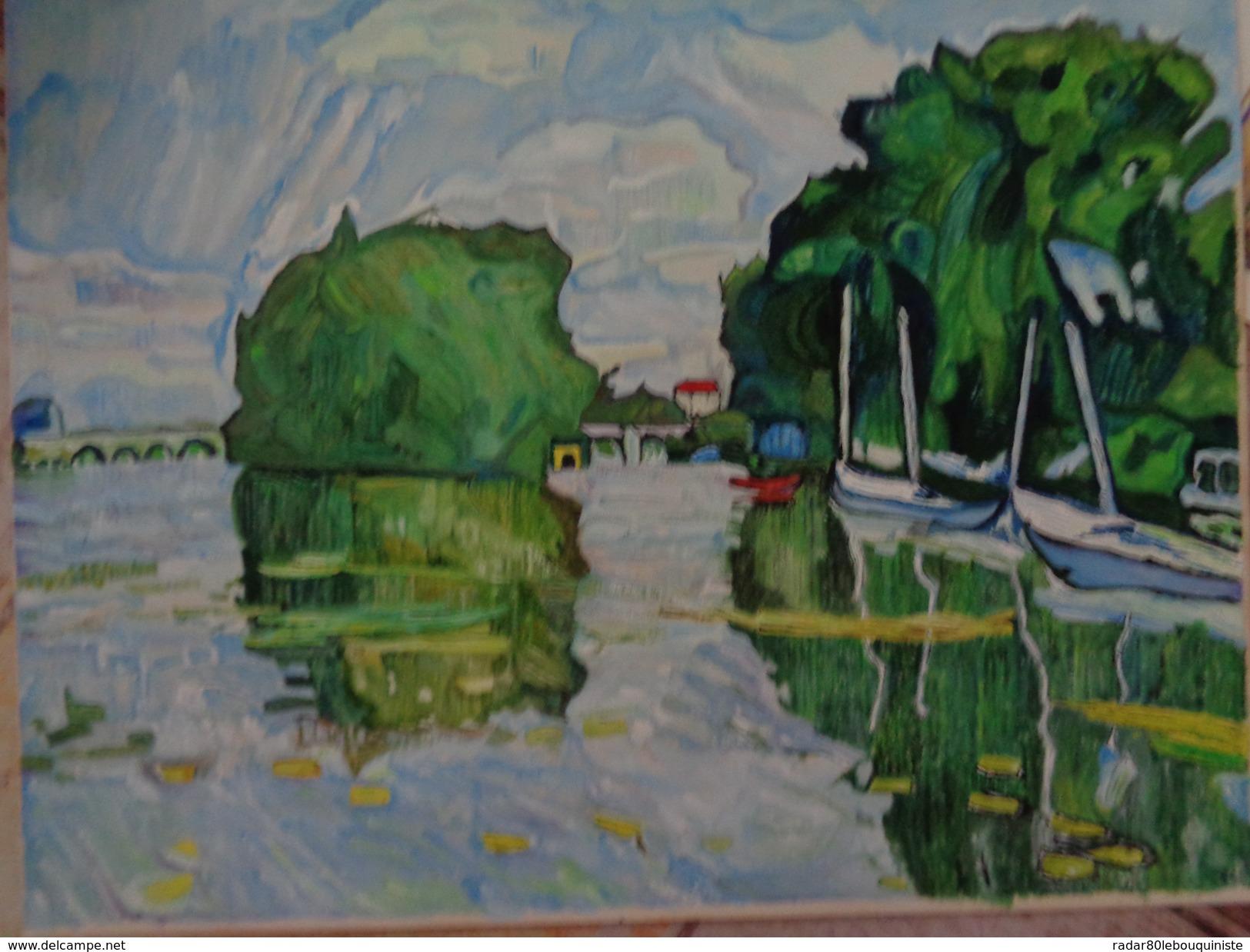 D'après .la Feuille:440 X 370 Mm.Acrylique Sur Papier Par Debeaupuis.1966 - Acryliques