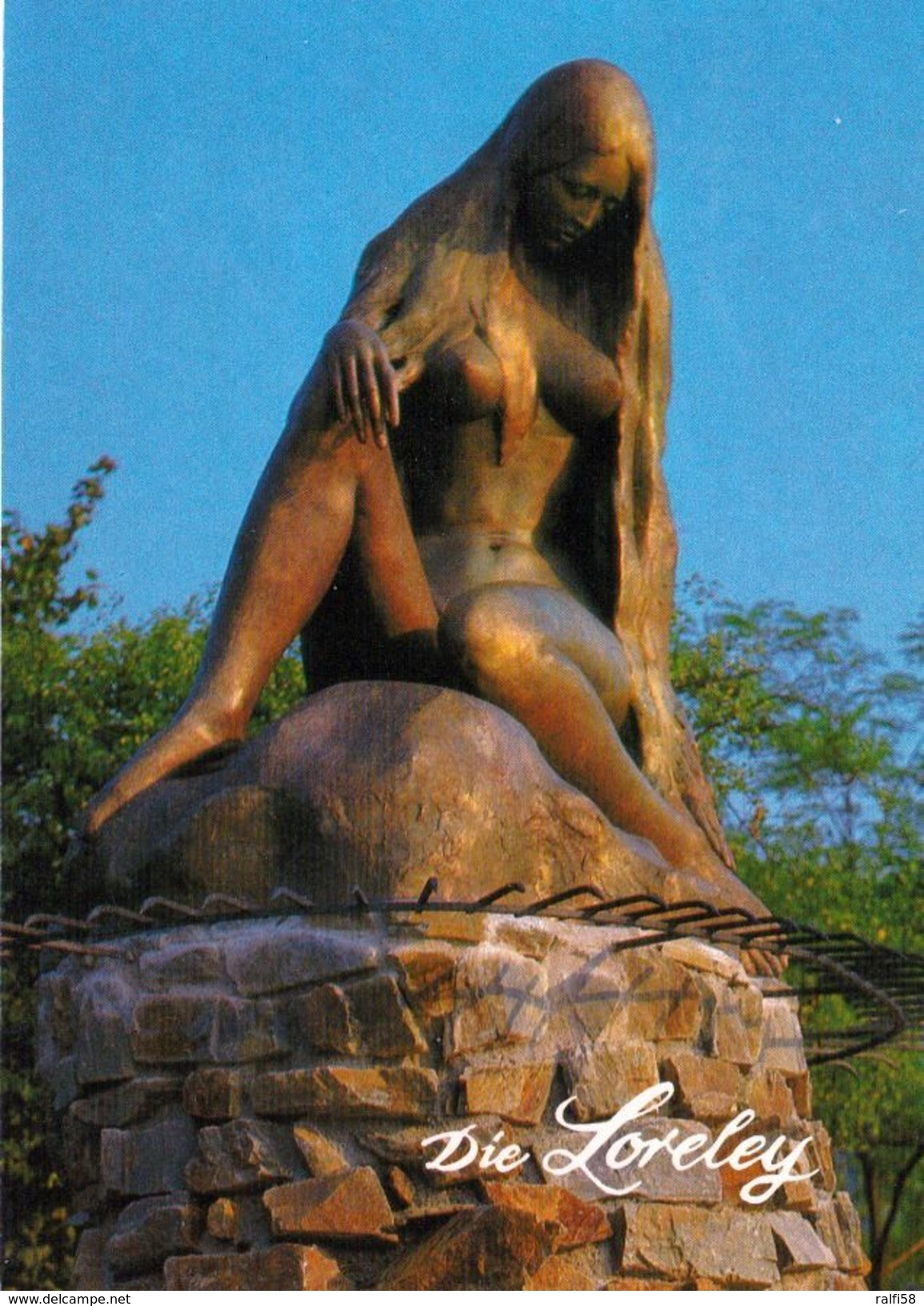 1 AK Deutschland / Rheinland-Pfalz * Loreley-Statue Bei St. Goarshausen * - Loreley