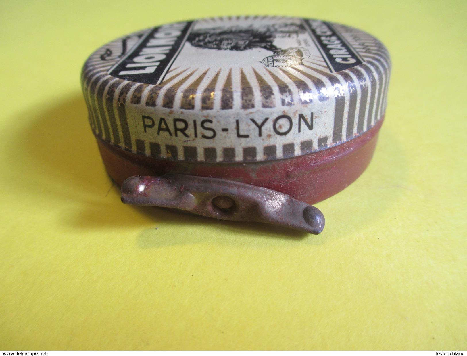 Boite En Fer/Produit D'entretien /Cirage Crème Pour Tous Cuirs/LION NOIR/Paris-Lyon/France/Vers1930-50     BFPP116 - Boxes