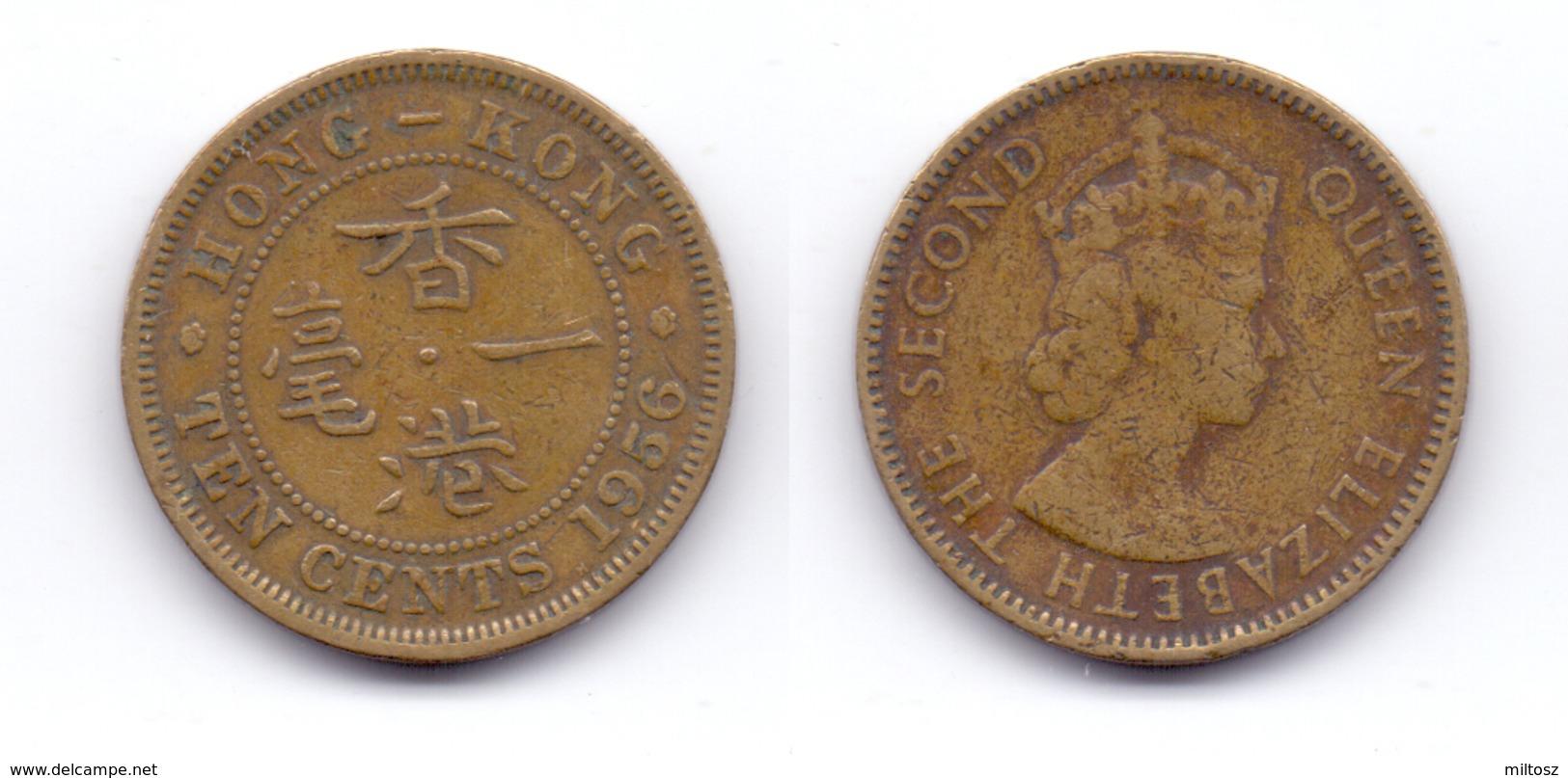 Hong Kong 10 Cents 1956 - Hong Kong