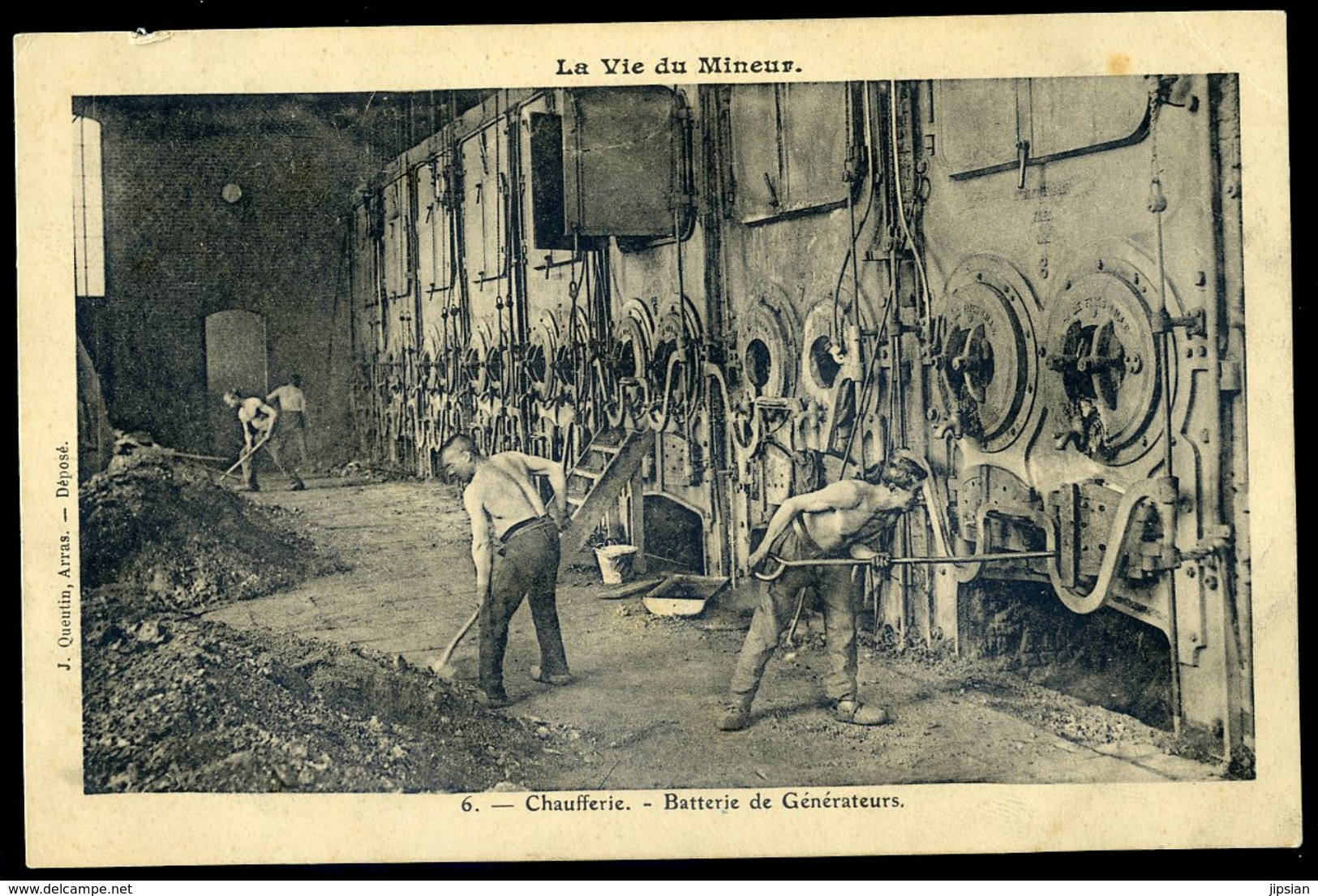 Cpa La Vie Du Mineur - 6 - Chaufferie -- Batterie De Générateurs    NCL34 - Mijnen
