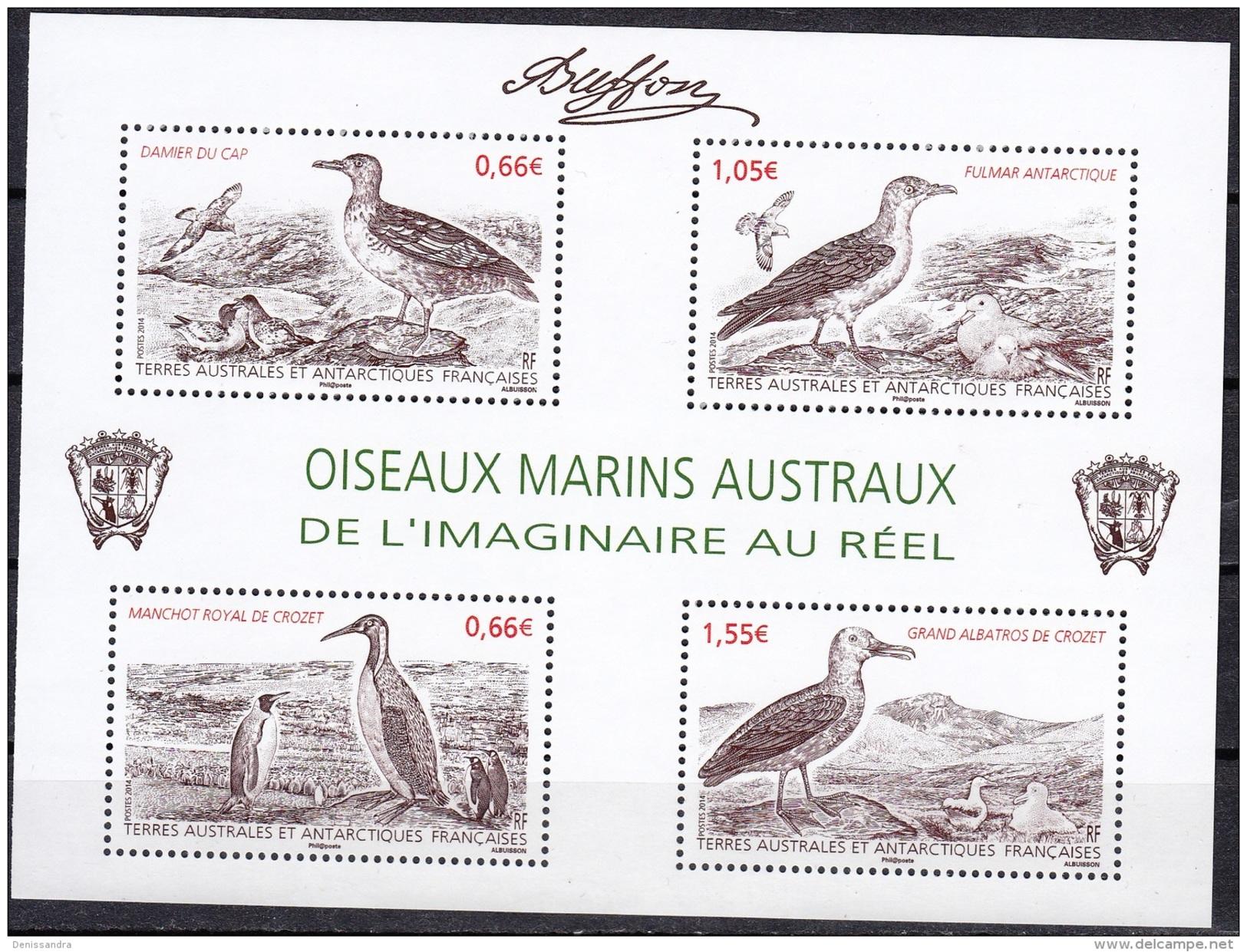TAAF 2014 Yvert F693 Neuf ** Cote (2015) 8.10 Euro Oiseaux Marins Austraux - Blocks & Kleinbögen