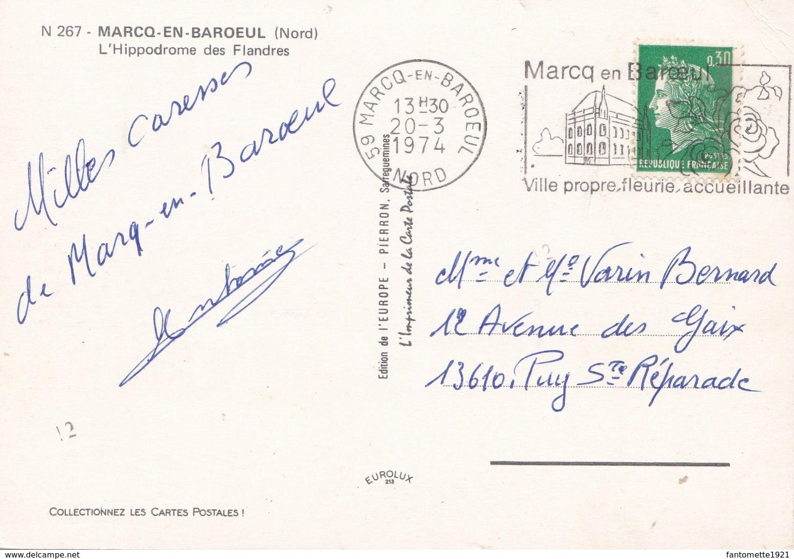 MARCQ EN BAROEUL  L'HIPPODROME DES FLANDRES (dil83) - Marcq En Baroeul