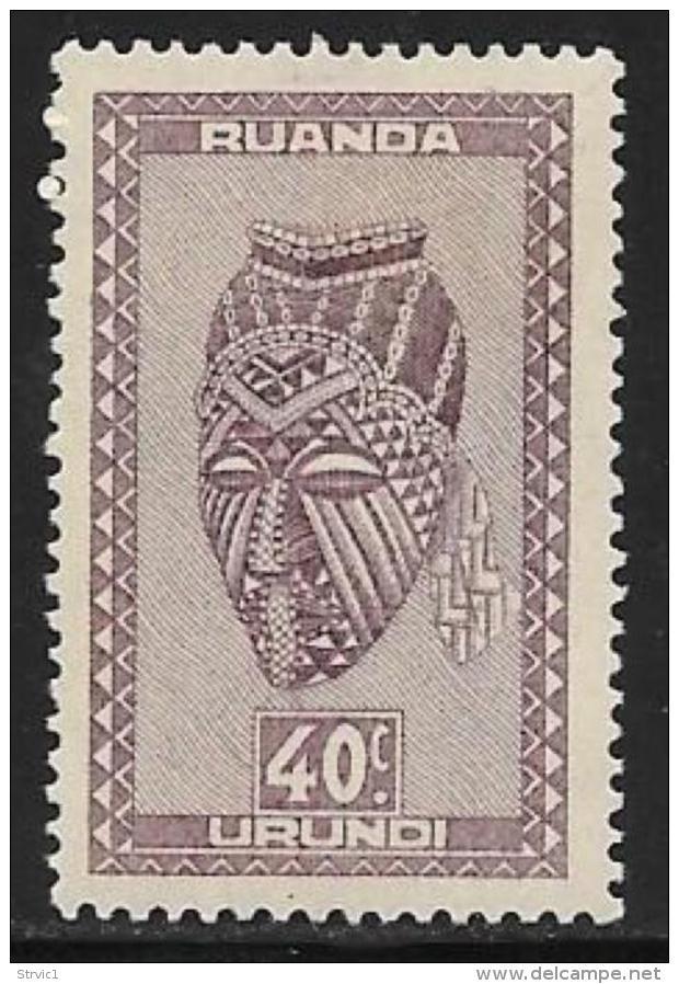 Ruanda-Urundi. Scott # 94 Mint Hinged Carved Figure, 1942 - Ruanda-Urundi