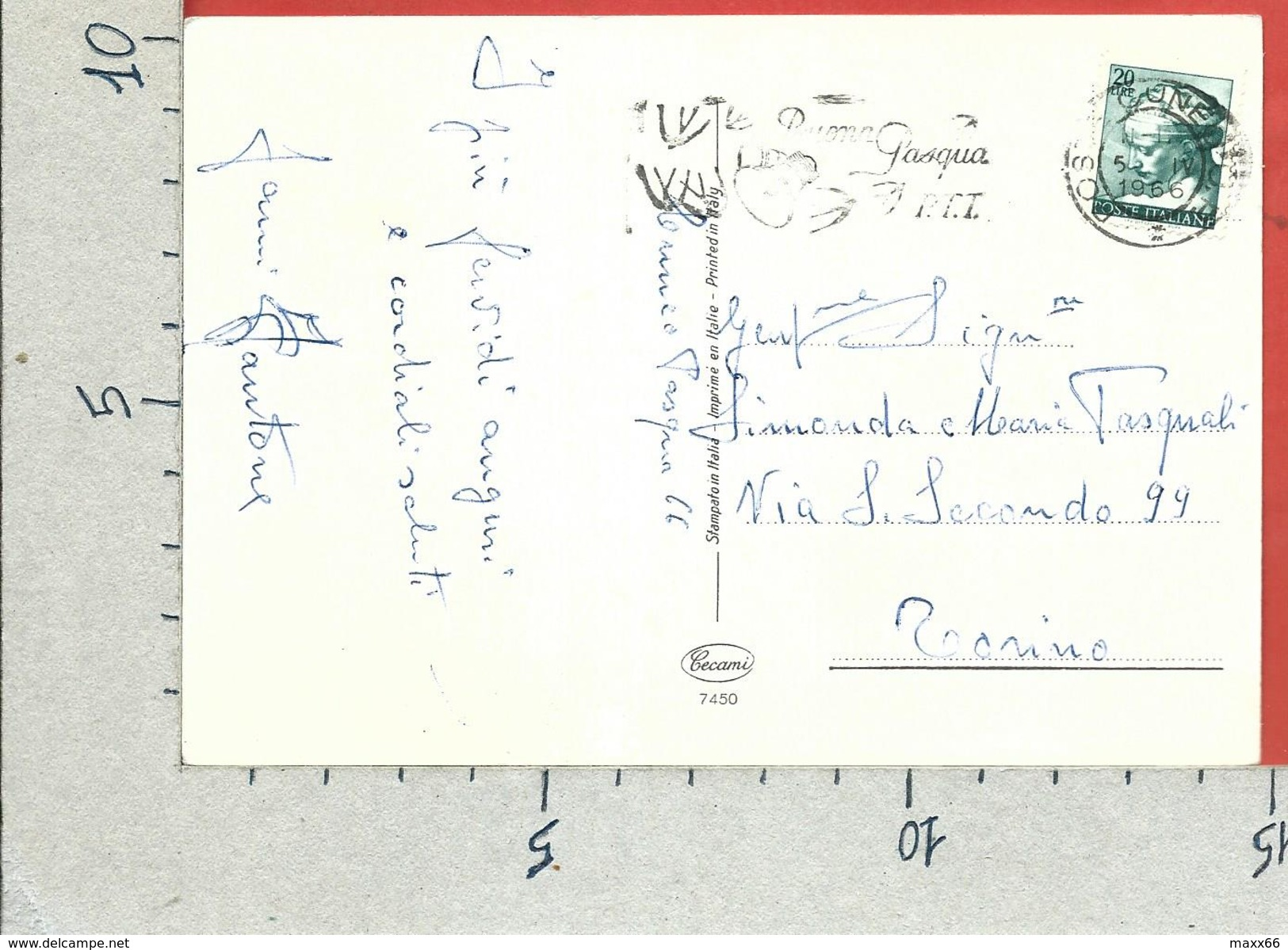 CARTOLINA VG ITALIA - BUONA PASQUA - Cassetta Per Le Lettere - Pulcini - CECAMI - 10 X 15 - ANN. 1966 - Pasqua