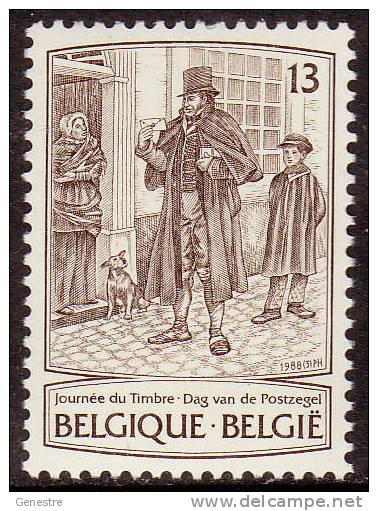 Belgique COB 2279 ** (MNH) - Journée Du Timbre 1988 - Valeur Faciale - Belgium