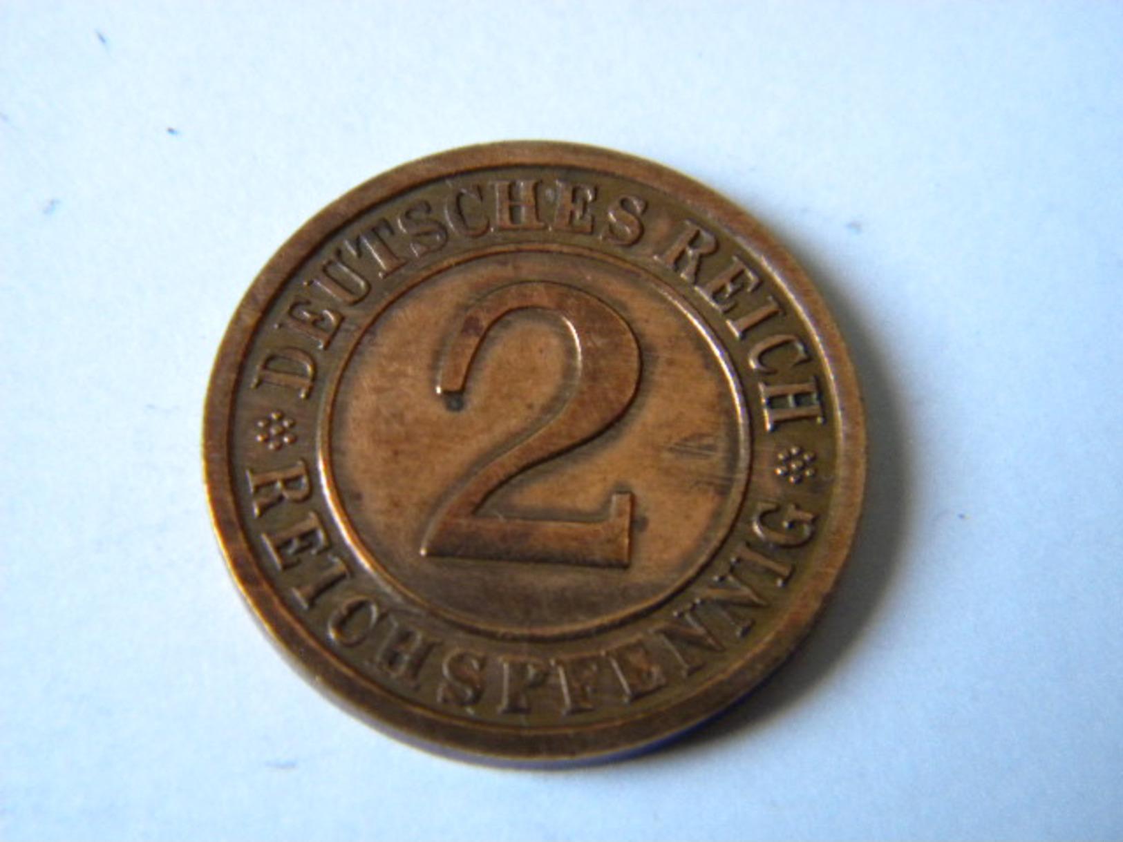 ALLEMAGNE -III REICH - 2 REICHSPFENNIG 1936.D. - 2 Reichspfennig