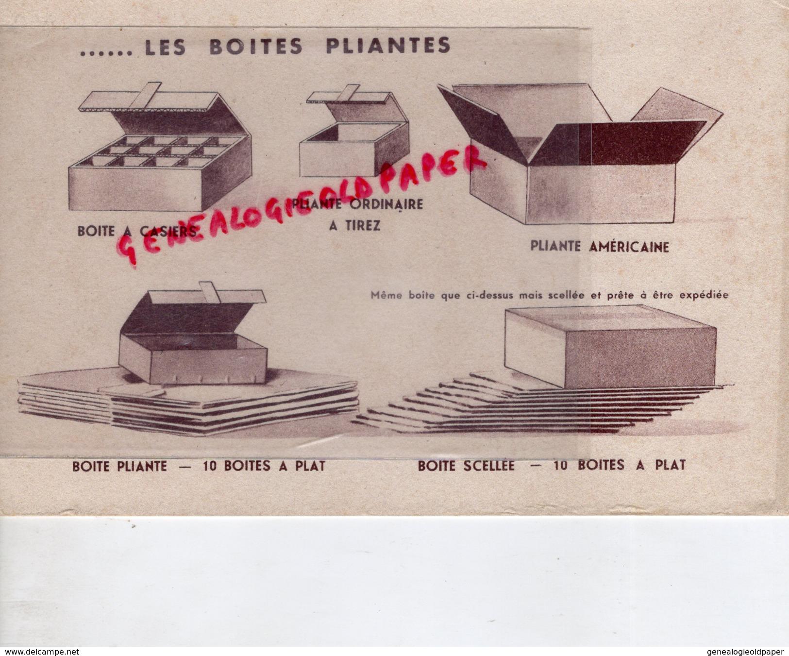 87 - LIMOGES- RARE BUVARD LACAUX FRERES- CARTON ONDULE-CARTONNERIE -EMBALLAGES BOITES PLIANTES - C