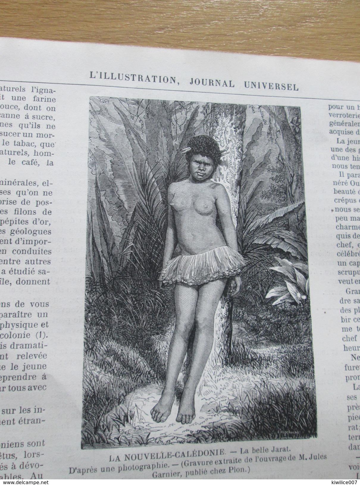 Gravure 1871   TENTE D UN CHEF   CAHOUA    Nouméa  NOUVELLE CALEDONIE    Nouméa Kaldak Belle Jarat - Vieux Papiers