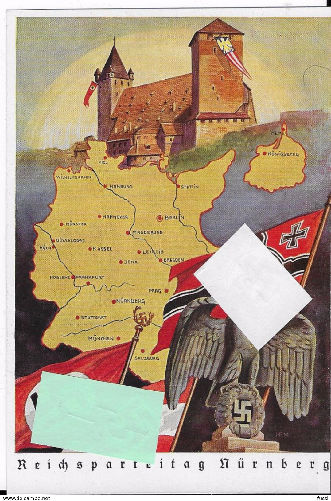 Reichsparteitag Nürnberg, Propaganda, Hakenkreuz - Weltkrieg 1939-45