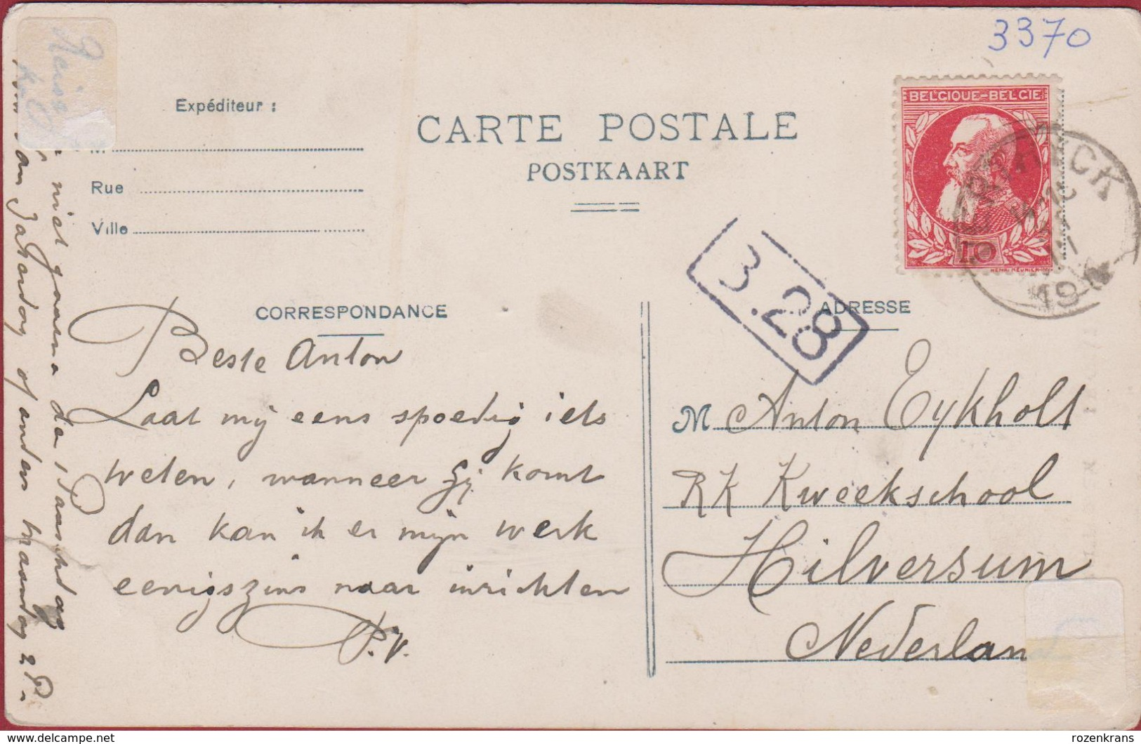 Boutersem Le Chateau Het Kasteel Postzegel Leopold II Bautersem Hageland - Boutersem