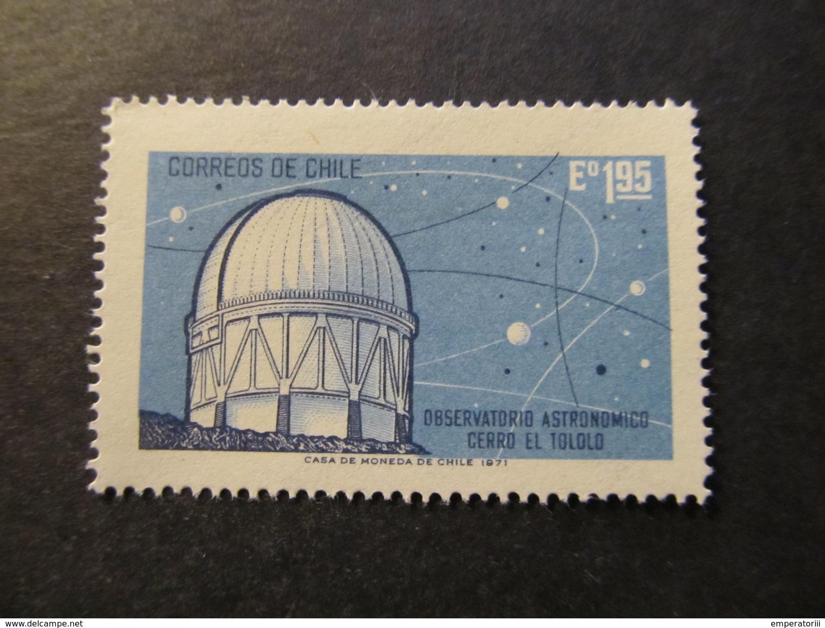 1971 - CHILE - OBSERVATION DOME, CERRO EL TOLOLO OBSERVATORY - SCOTT 412 A219 1,95E (2) - Chile