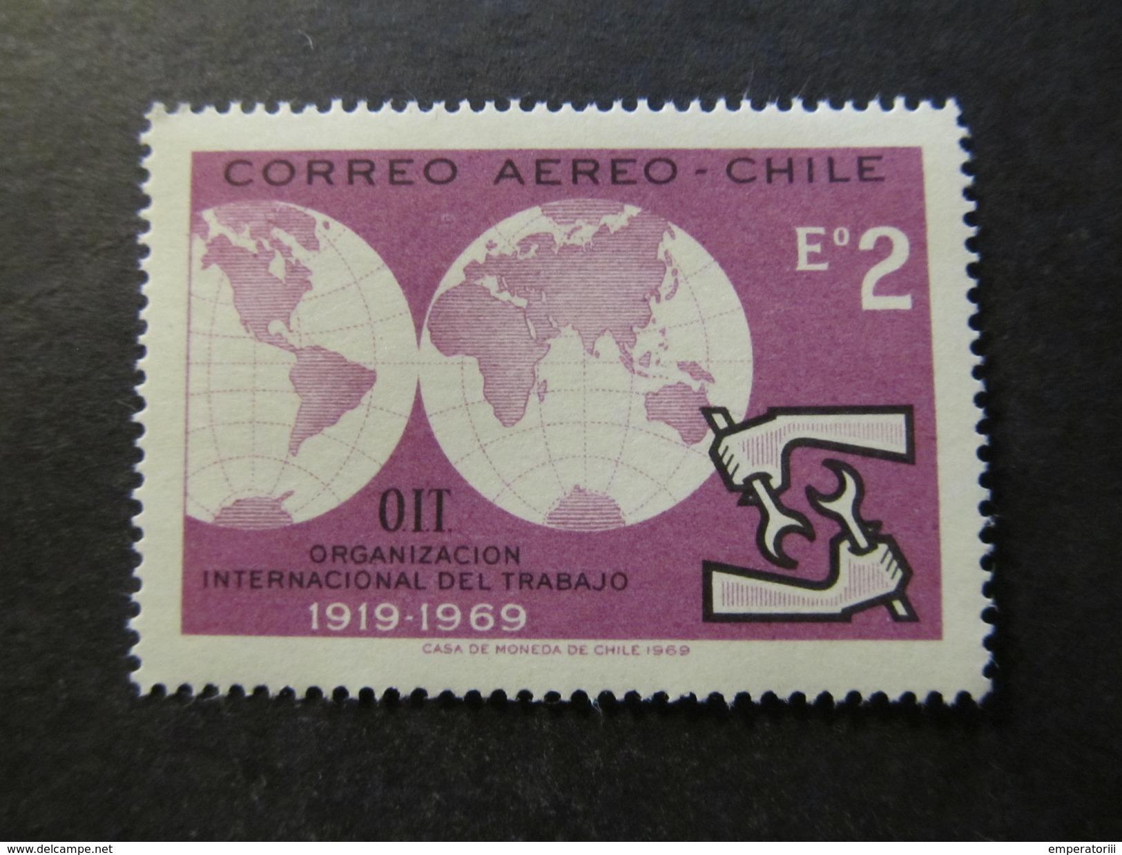 1969 - CHILE - ILO EMBLEM - SCOTT C296 A197 2E (1) - Chile