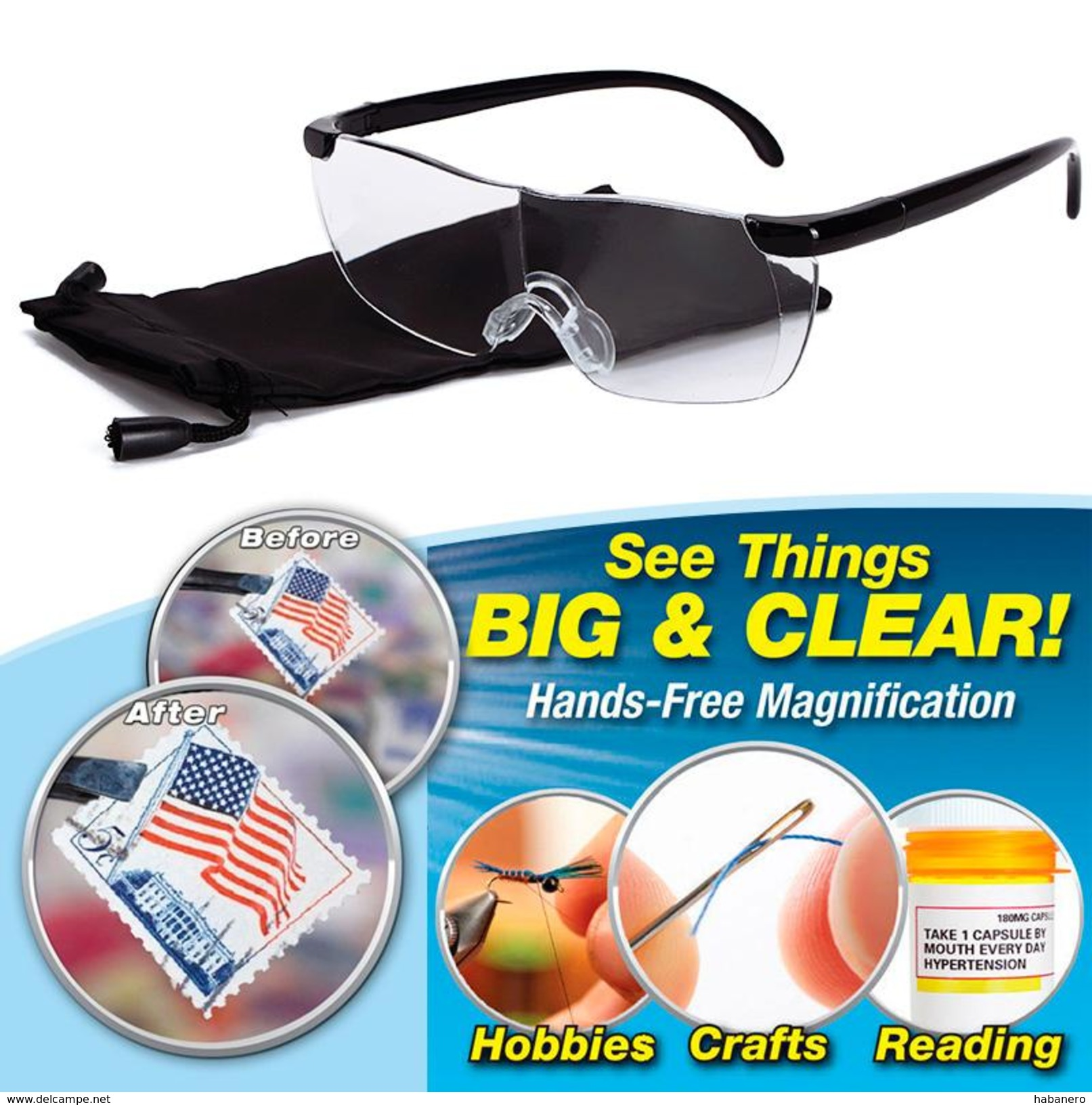 See Things Big & Clear Pro Vision 160% Magnifying Presbyopic Glasses - Other Book Accessories