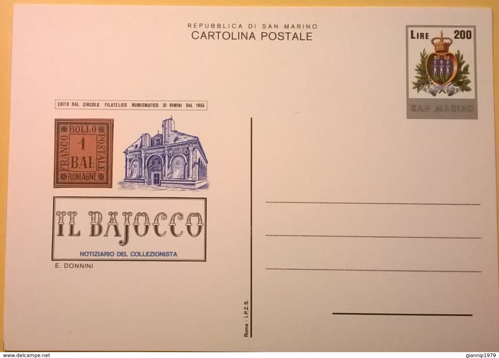 CARTOLINA NUOVA SAN MARINO IL BAJOCCO LIRE 200 - San Marino